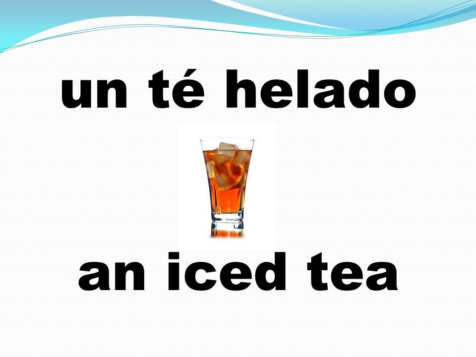 un té helado an iced tea