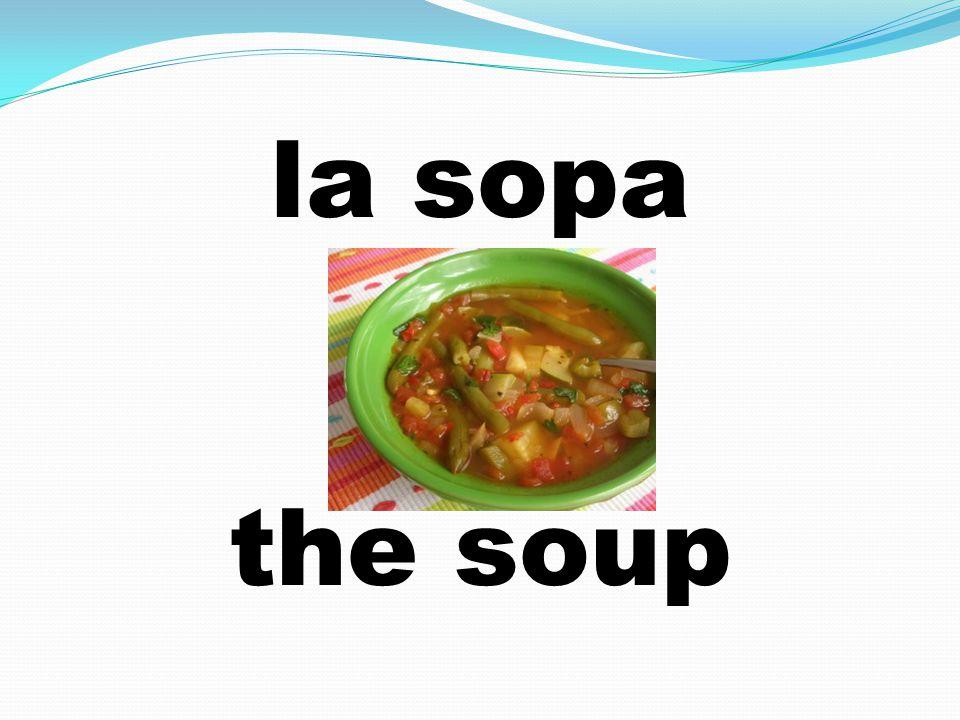 la sopa the soup
