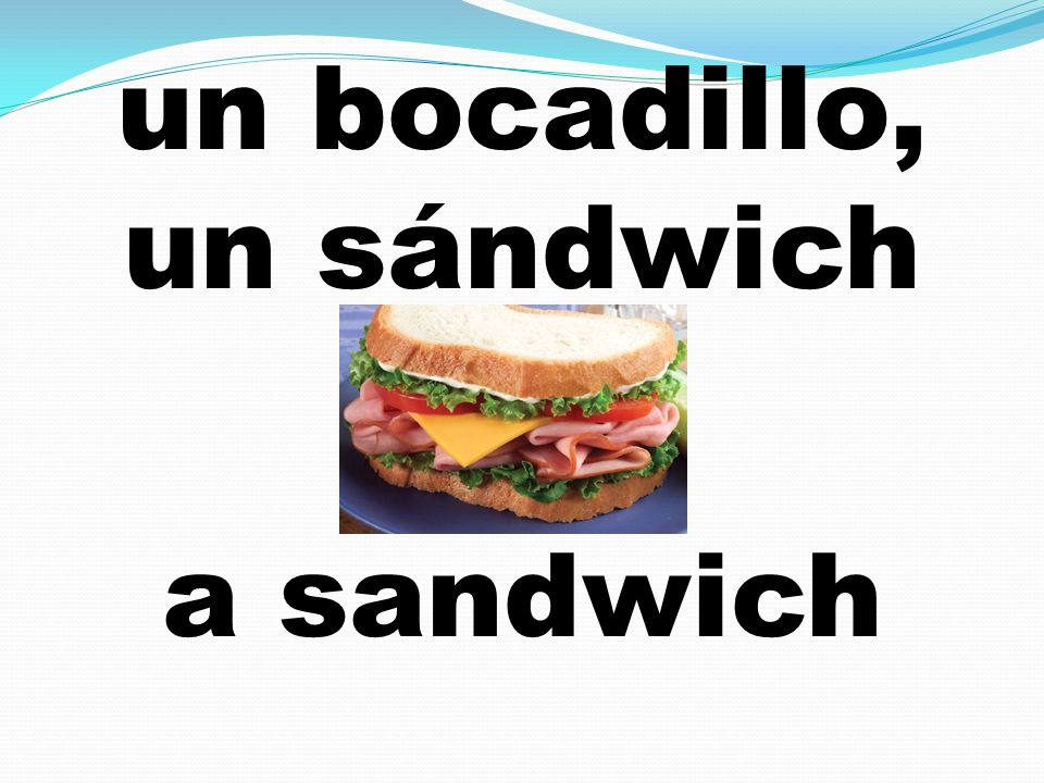 un bocadillo, un sándwich a sandwich