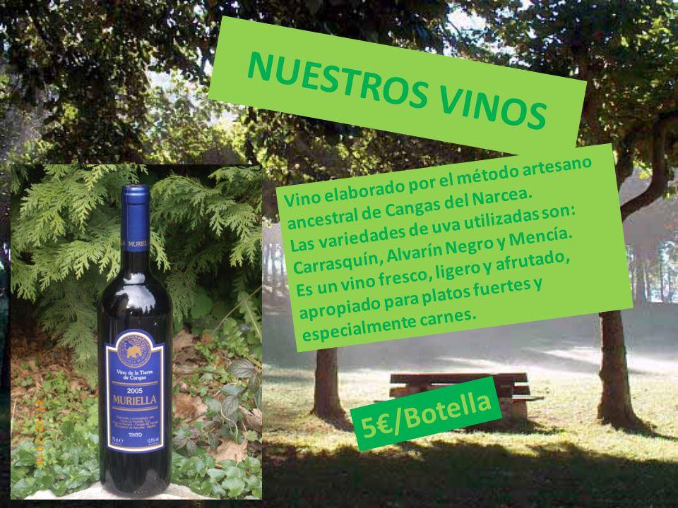 NUESTROS VINOS Vino elaborado por el método artesano ancestral de Cangas del Narcea.
