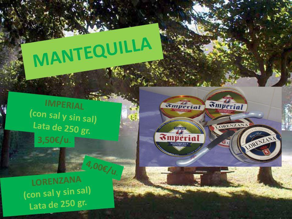 MANTEQUILLA IMPERIAL (con sal y sin sal) Lata de 250 gr.