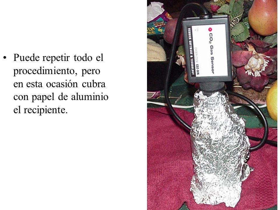 Puede repetir todo el procedimiento, pero en esta ocasión cubra con papel de aluminio el recipiente.