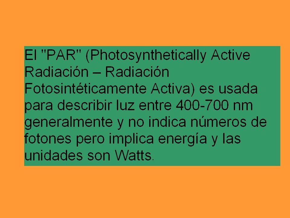 Un mol de luz roja tiene 18.4 x 10 4 joules