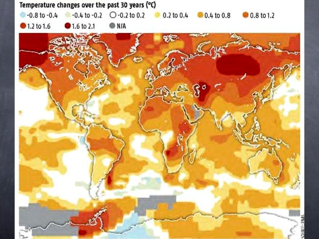 Una de las cosas más importantes que nos muestran los datos, es que el calentamiento no está ocurriendo de igual manera en todas las partes del mundo.