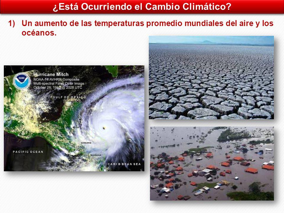 ¿Está Ocurriendo el Cambio Climático.