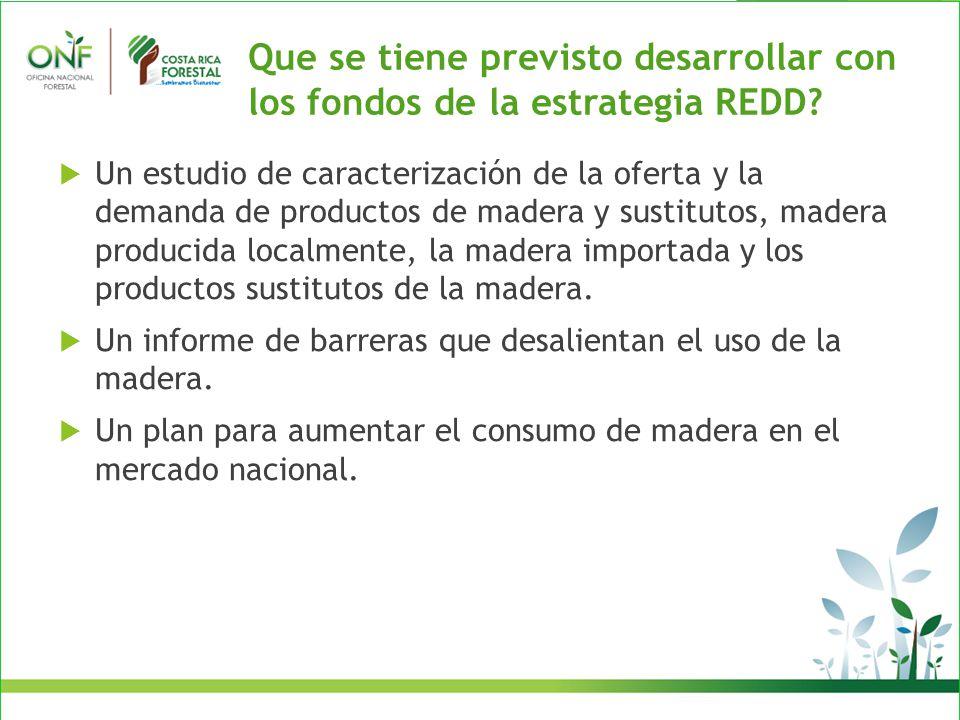 Que se tiene previsto desarrollar con los fondos de la estrategia REDD.