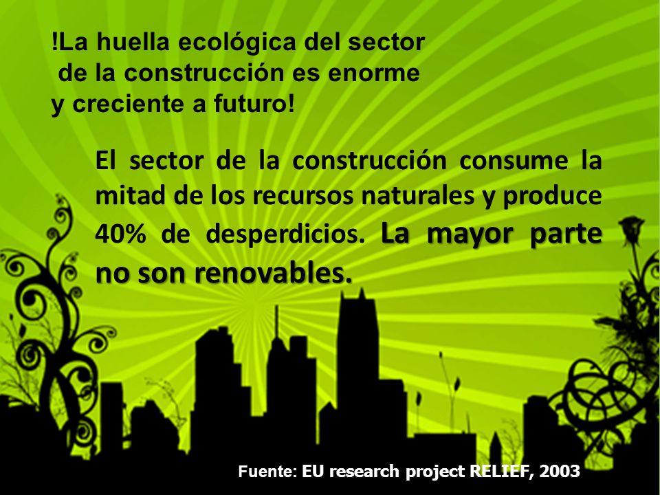 !La huella ecológica del sector de la construcción es enorme y creciente a futuro.
