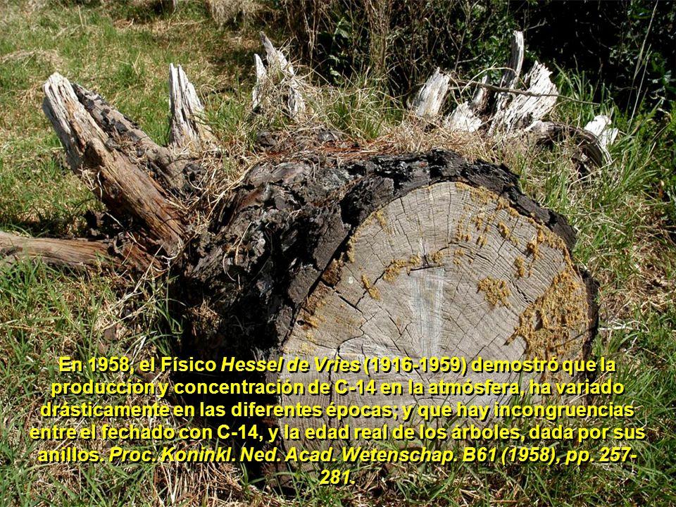 Por eso es que a los organismos muertos, teóricamente, se les puede calcular su edad (antigüedad) detectando la radiación de C-14 emitida por minuto, y por gramo de materia orgánica.