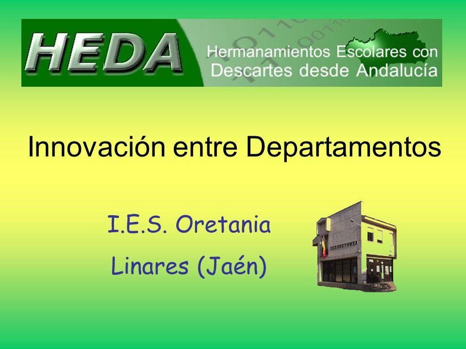 Innovación entre Departamentos I.E.S. Oretania Linares (Jaén)