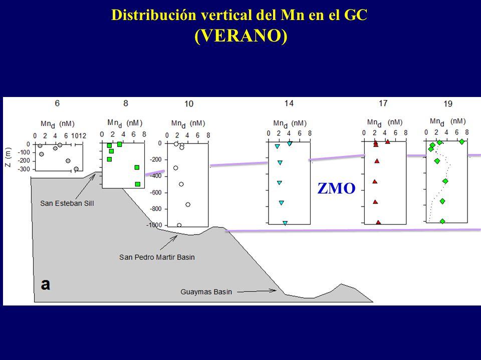 Distribución vertical del Mn en el GC (VERANO) ZMO