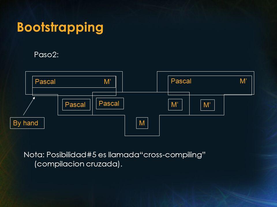 Bootstrapping Paso2: Nota: Posibilidad#5 es llamada cross-compiling (compilacion cruzada).