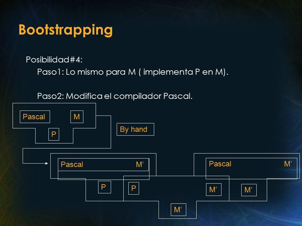 Bootstrapping Posibilidad#4: Paso1: Lo mismo para M ( implementa P en M).