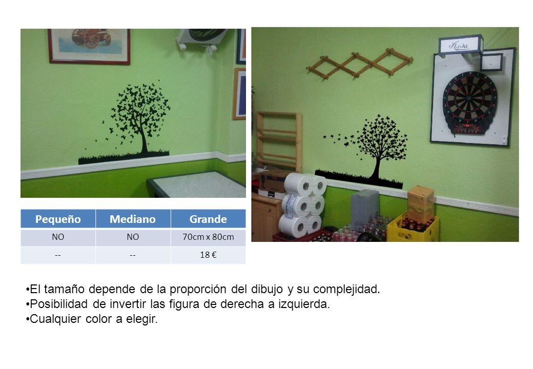 PequeñoMedianoGrande NO 70cm x 80cm -- 18 € El tamaño depende de la proporción del dibujo y su complejidad.