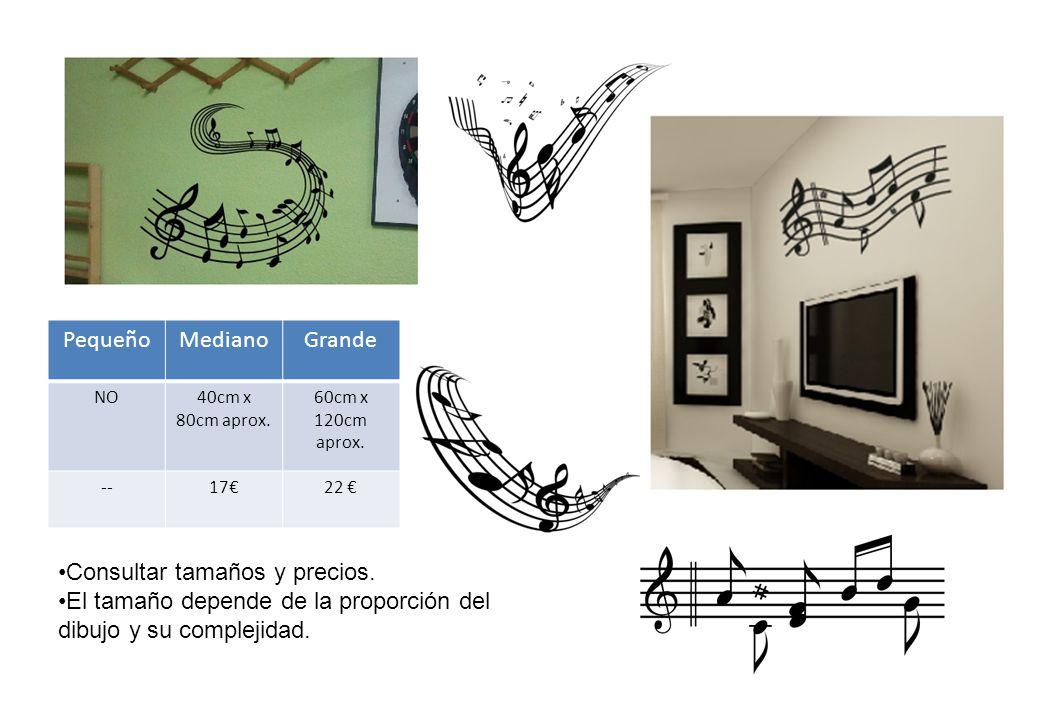 Consultar tamaños y precios. El tamaño depende de la proporción del dibujo y su complejidad.