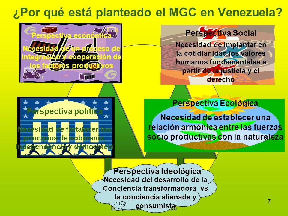 Emilio Chirinos Zárraga Barquisimeto, marzo 2006 7 ¿Por qué está planteado el MGC en Venezuela.