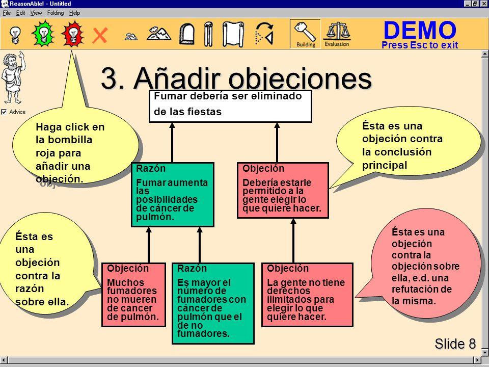 DEMO Slide 8 Press Esc to exit 3.