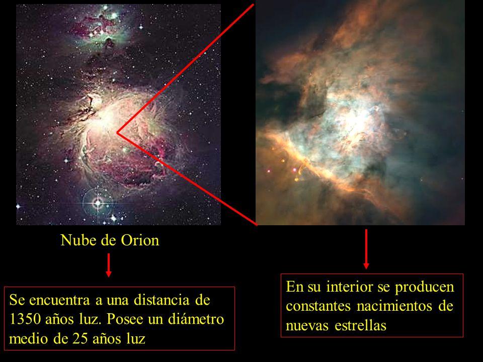 Nube de Orion Se encuentra a una distancia de 1350 años luz.