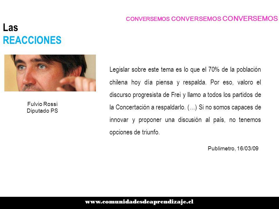 Legislar sobre este tema es lo que el 70% de la población chilena hoy día piensa y respalda.