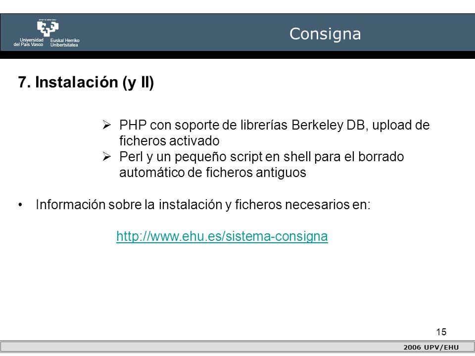 15 Consigna 2006 UPV/EHU 7.