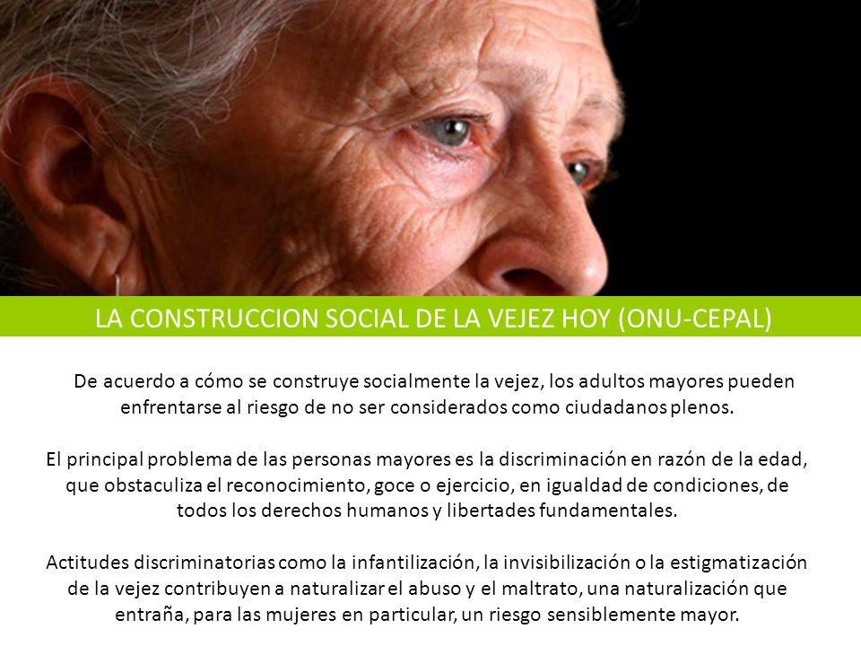 De acuerdo a cómo se construye socialmente la vejez, los adultos mayores pueden enfrentarse al riesgo de no ser considerados como ciudadanos plenos.
