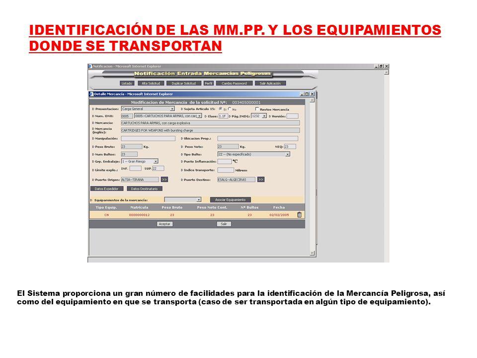 IDENTIFICACIÓN DE LAS MM.PP.
