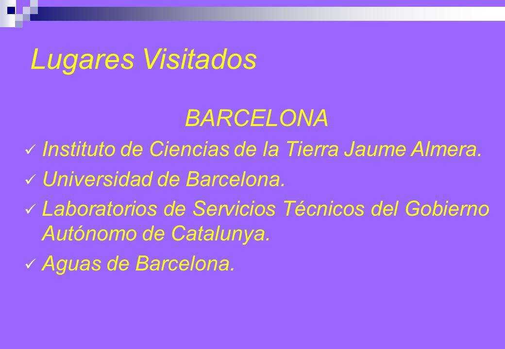 Lugares Visitados BARCELONA Instituto de Ciencias de la Tierra Jaume Almera.
