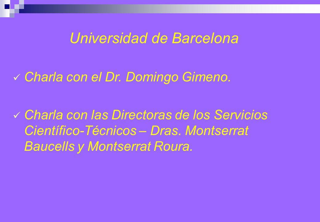 Universidad de Barcelona Charla con el Dr. Domingo Gimeno.