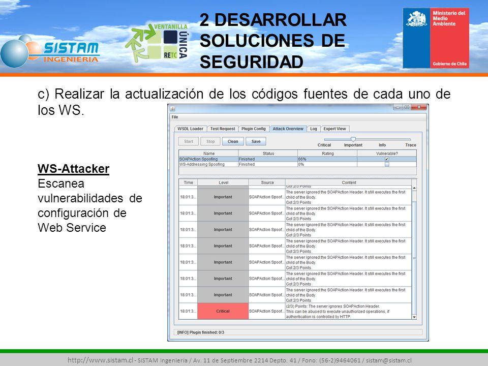 http://www.sistam.cl - SISTAM Ingeniería / Av. 11 de Septiembre 2214 Depto.