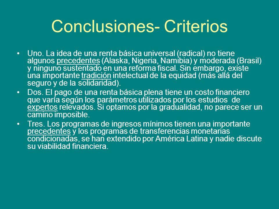 Conclusiones- Criterios Uno.