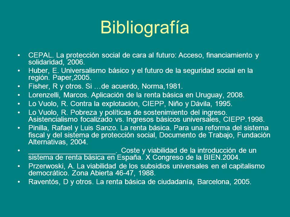 Bibliografía CEPAL.
