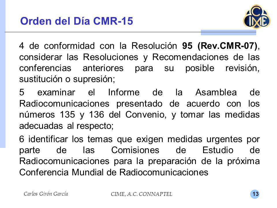 13 Carlos Girón García CIME, A.C. CONNAPTEL.