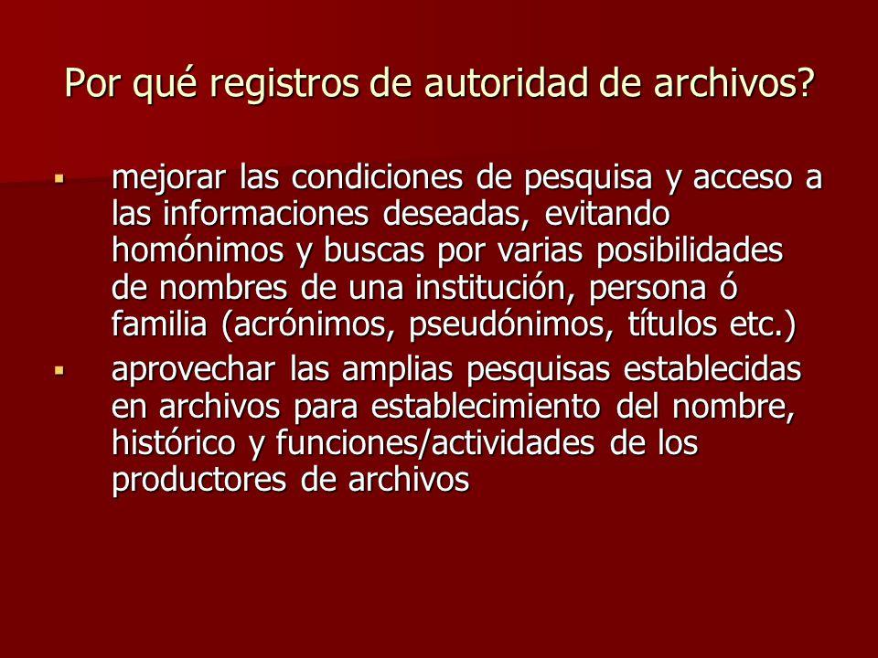 Por qué registros de autoridad de archivos.