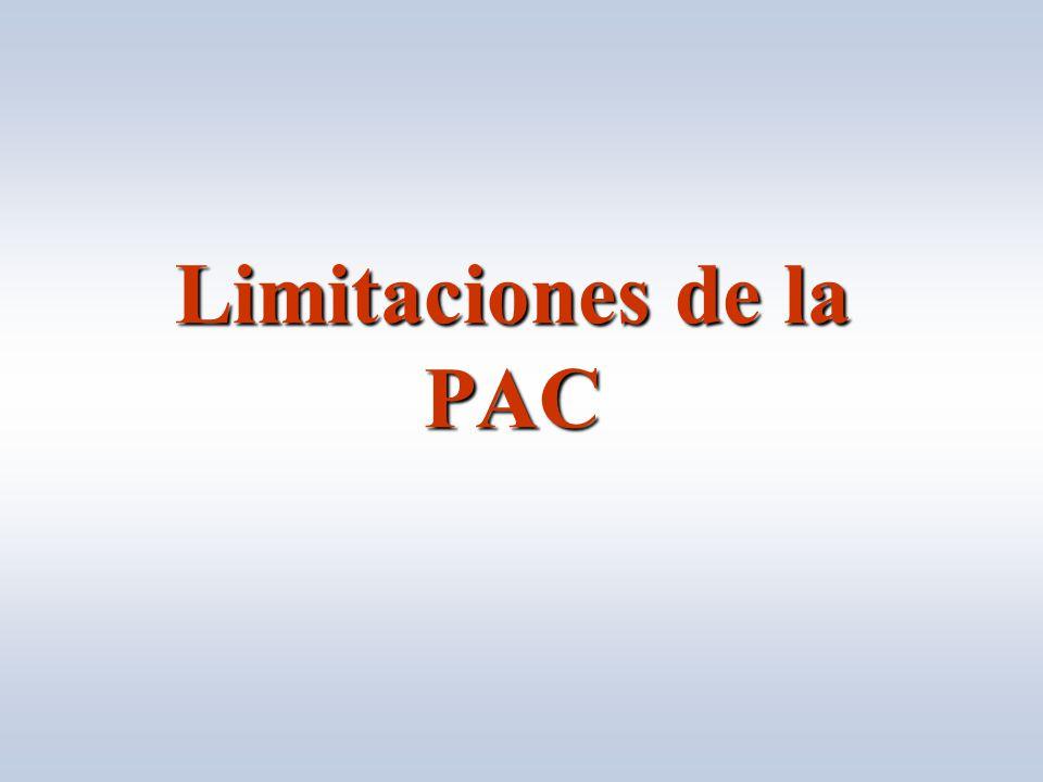 Limitaciones de la PAC