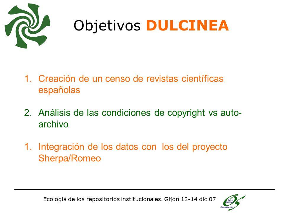 Ecología de los repositorios institucionales.