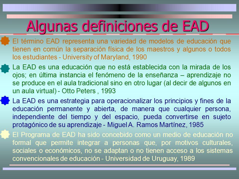 SUMARIO SUMARIO Algunas definiciones Características Evolución Objetivos Elementos del proceso Diferencia con la educ.presencial