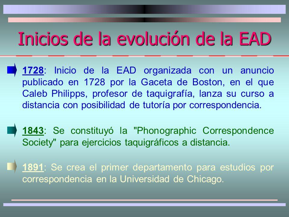 Características de la EAD 2.
