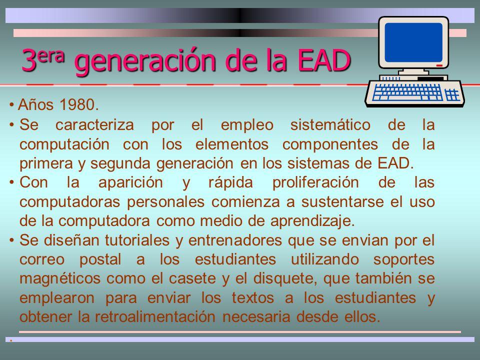 Se crean instituciones universitarias específicas para la EAD.