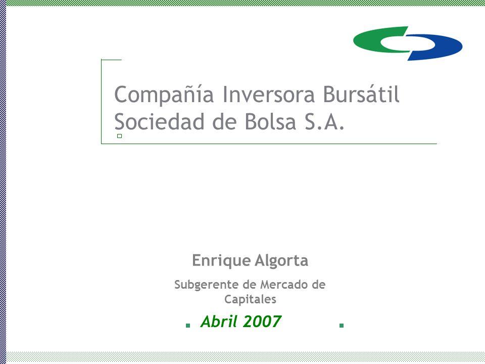 Compañía Inversora Bursátil Sociedad de Bolsa S.A.
