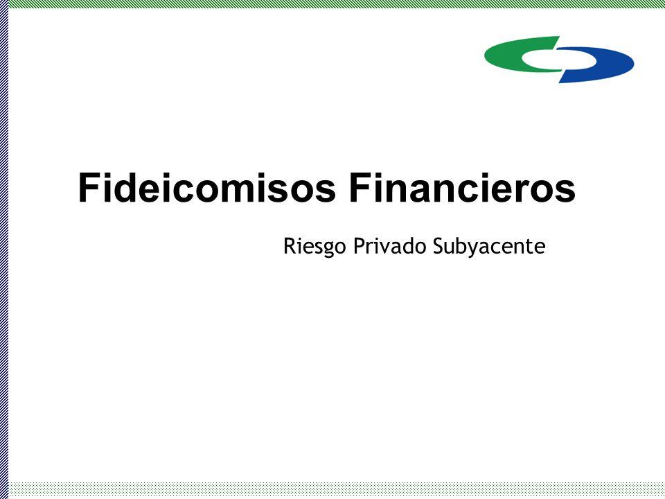 Fideicomisos Financieros Riesgo Privado Subyacente