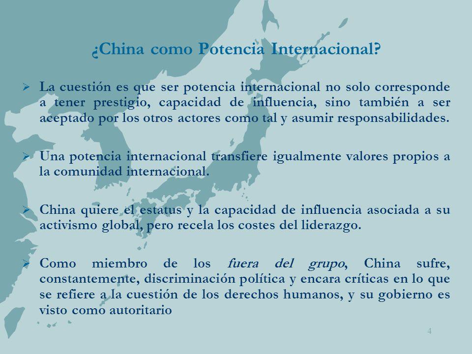 4 ¿China como Potencia Internacional.