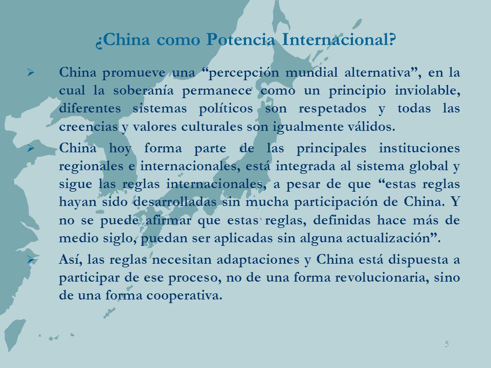 5 ¿China como Potencia Internacional.