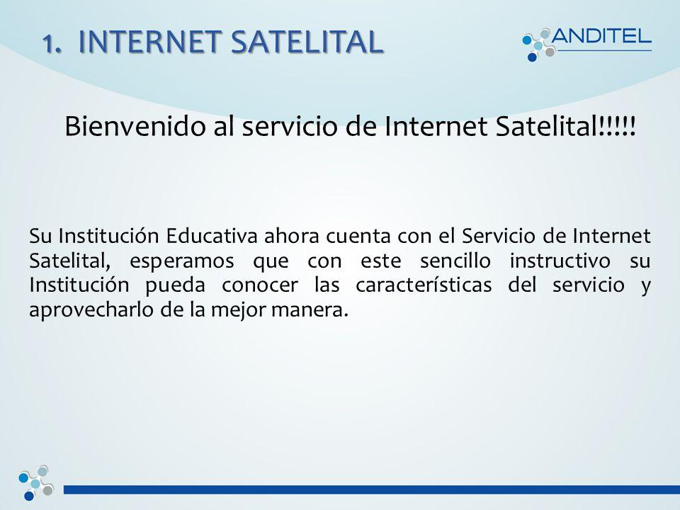 1. INTERNET SATELITAL Bienvenido al servicio de Internet Satelital!!!!.