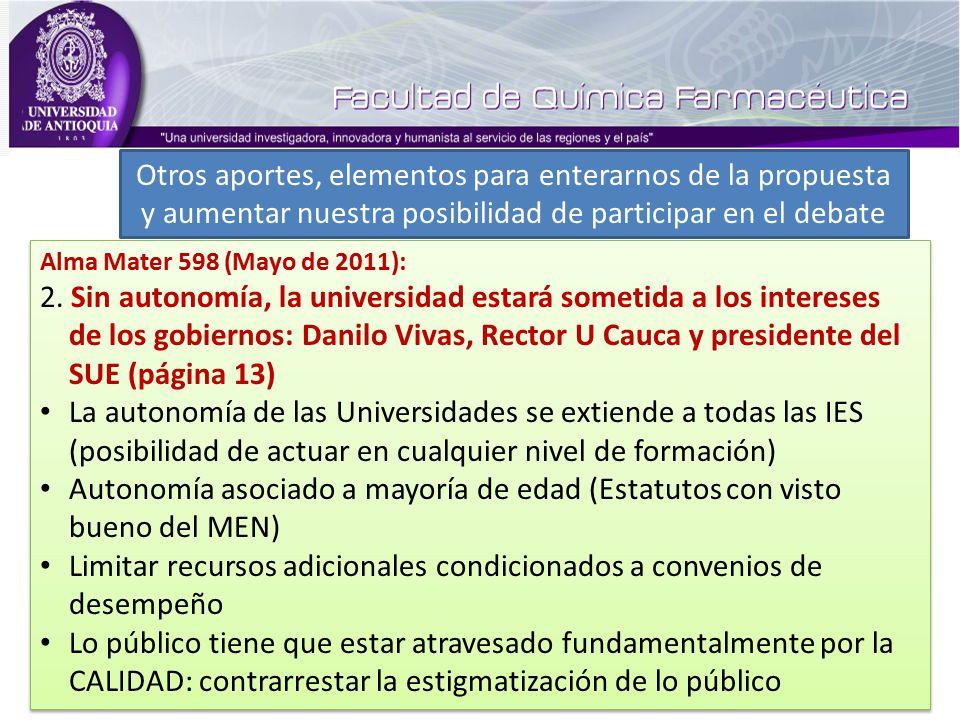 Alma Mater 598 (Mayo de 2011): 2.