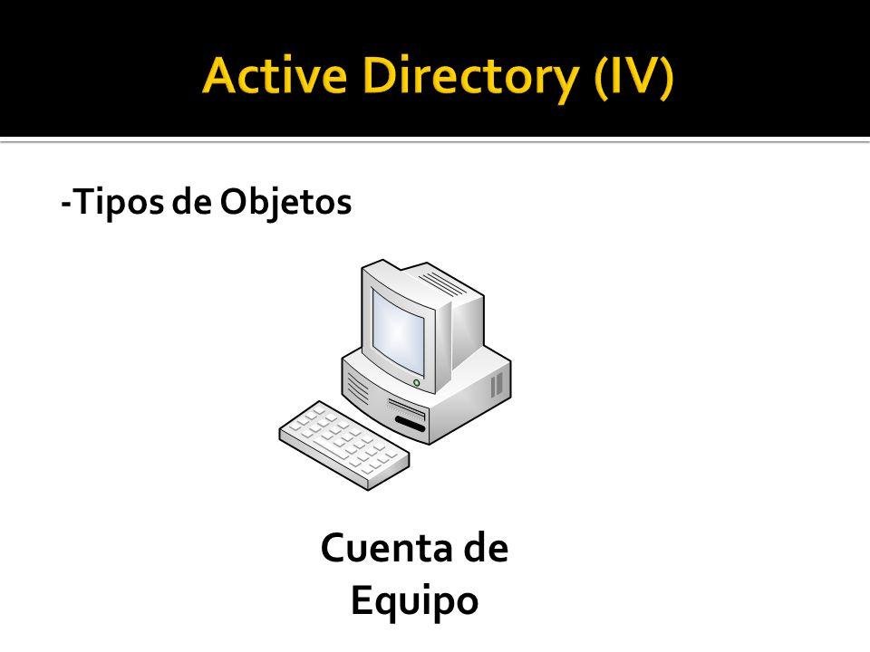 -Tipos de Objetos Cuenta de Equipo