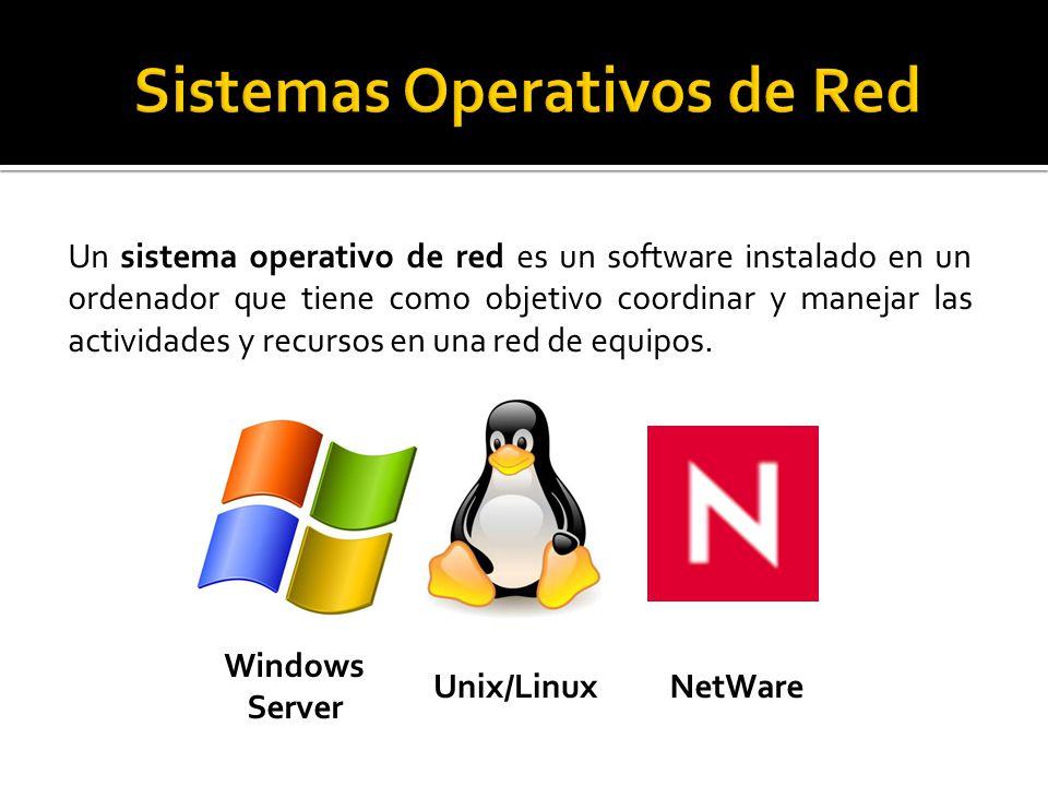 Un sistema operativo de red es un software instalado en un ordenador que tiene como objetivo coordinar y manejar las actividades y recursos en una red de equipos.