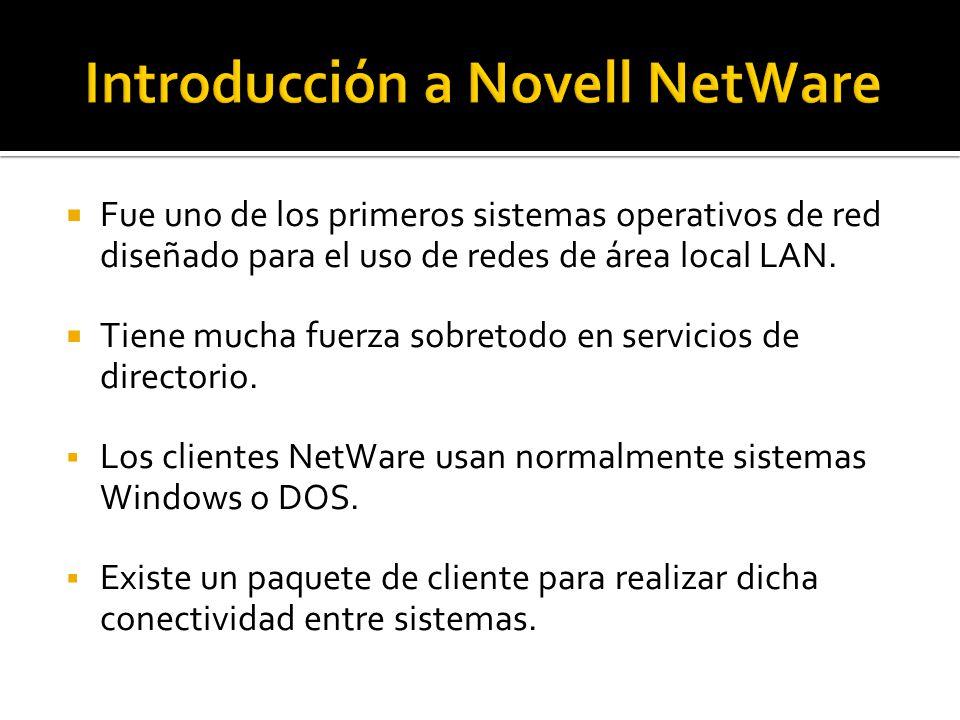  Fue uno de los primeros sistemas operativos de red diseñado para el uso de redes de área local LAN.