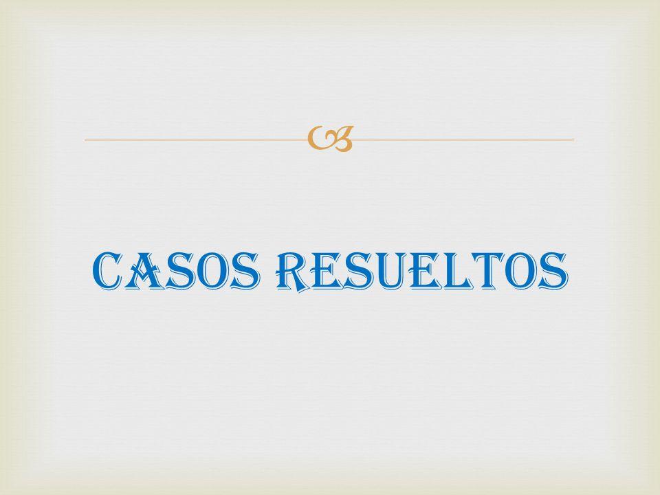  CASOS RESUELTOS