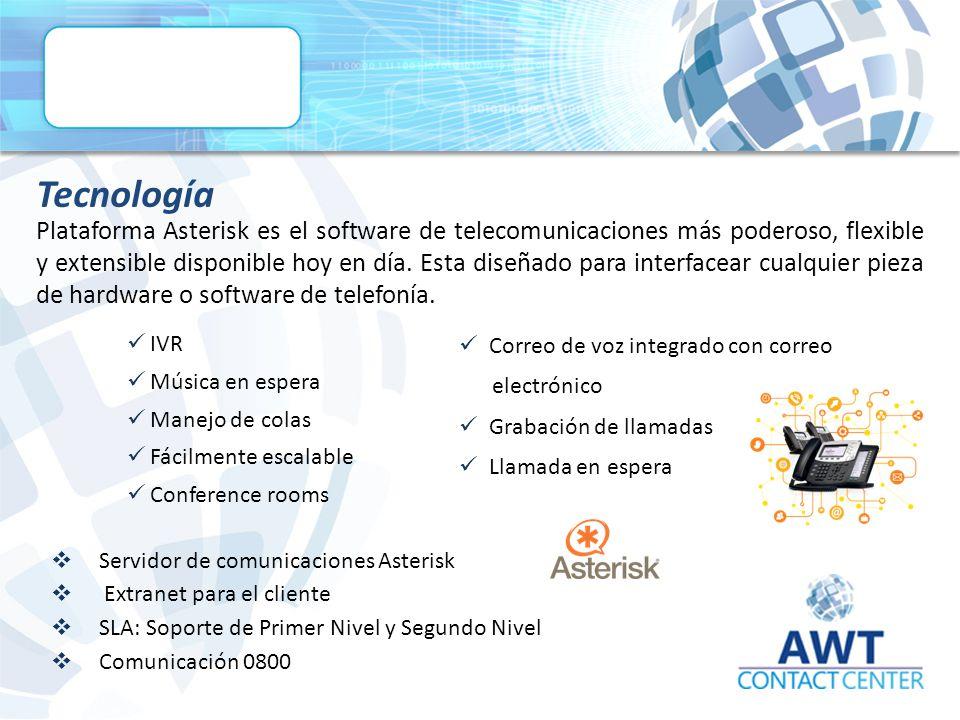 Plataforma Asterisk es el software de telecomunicaciones más poderoso, flexible y extensible disponible hoy en día.