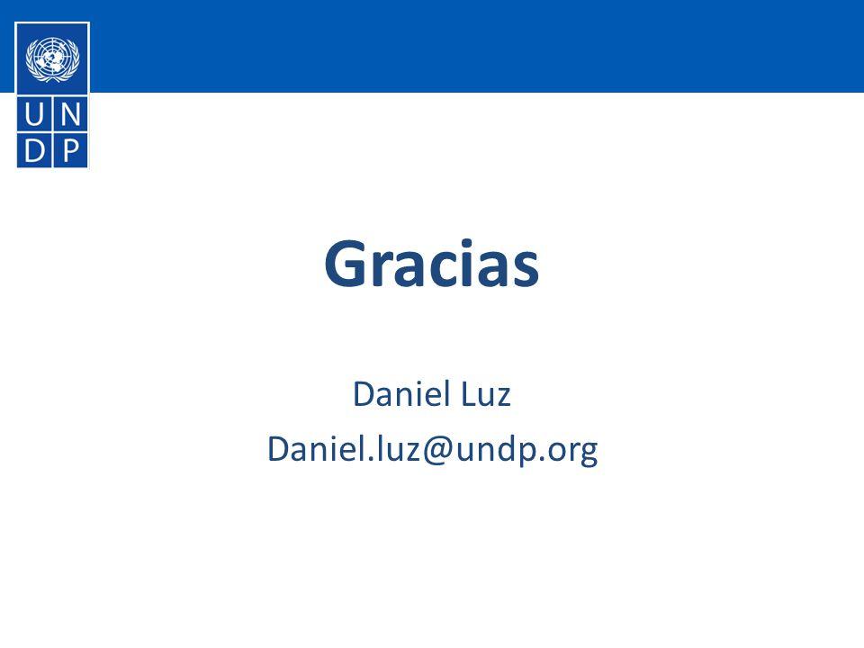 Gracias Daniel Luz Daniel.luz@undp.org