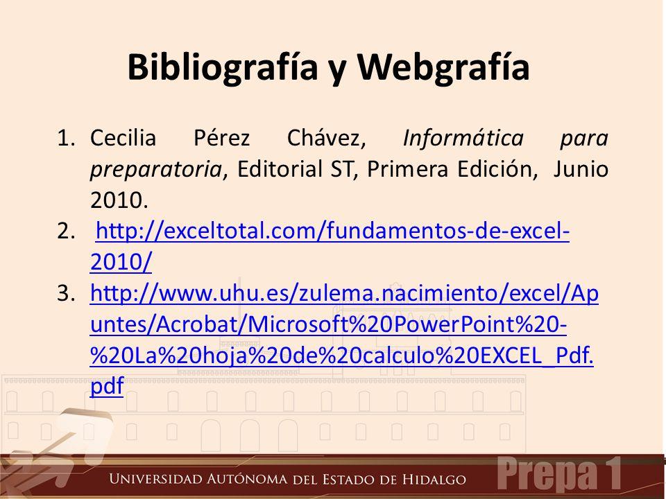 1.Cecilia Pérez Chávez, Informática para preparatoria, Editorial ST, Primera Edición, Junio 2010.
